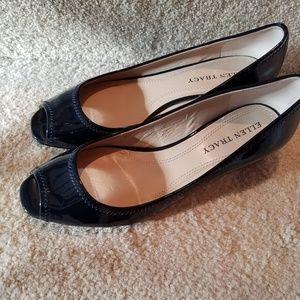 Ellen Tracy navy Patten leather shoe